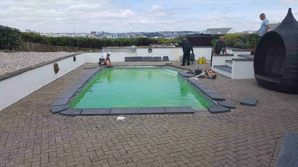 Before Swimming Pool Surround